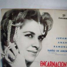 Discos de vinilo: ENCARNACIÓN RUIZ- JURAME-ANAHI-RAMONA-SUEÑO DE AMOR/ EP 1963/COLUMBIA. Lote 235223800
