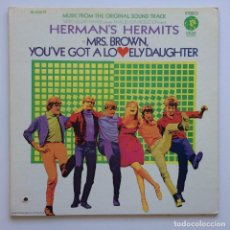 Discos de vinilo: HERMAN'S HERMITS – MRS. BROWN, YOU'VE GOT A LOVELY DAUGHTER (MUSIC FROM THE ORIGINAL SOUND TRACK). Lote 235235105
