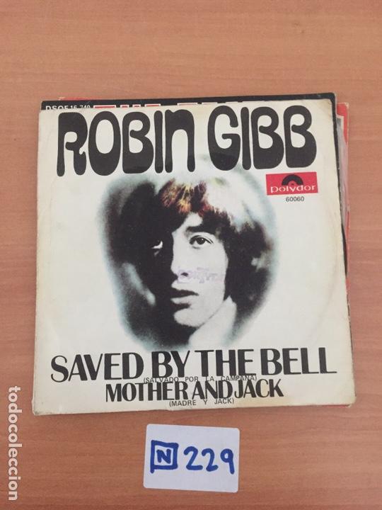 ROBIN GIBB – SAVED BY THE BELL (Música - Discos - Singles Vinilo - Pop - Rock Internacional de los 50 y 60)