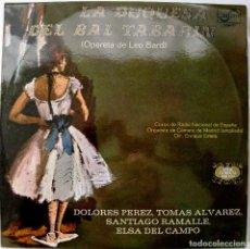 Discos de vinilo: LA DUQUESA DEL BAL TABARIN (LEO BARD) DOLORES PEREZ - DIR. ENRIQUE ESTELA - LP ZAFIRO 1972 BPY. Lote 235239465
