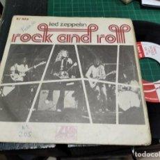 Discos de vinilo: SINGLE LED ZEPPELIN ROCK AND ROLL BUEN SONIDO. Lote 235240340