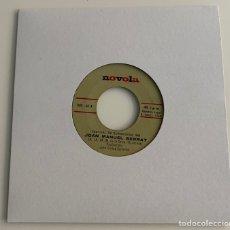 Discos de vinilo: JOAN MANUEL SERRAT-LA,LA,LA/MIS GAVIOTAS/SINGLE 1968 NOVOLA NOX-60,ESPAÑA.. Lote 235250400