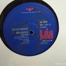 Discos de vinilo: SYNTHESIS - BREAKING DOWN. Lote 235252065