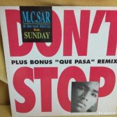 Discos de vinilo: MC SAT - PLUS BONUS RMX. Lote 235259115