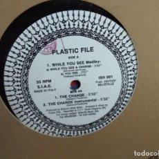 Discos de vinilo: PLASTIC FILE - WHILE YOU SEE. Lote 235261850