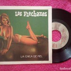Discos de vinilo: SINGLE LOS FLECHAZOS - LA CHICA DE MEL / ARCO IRIS - DRO 1D-0678-2 - (EX+/NM). Lote 235266865