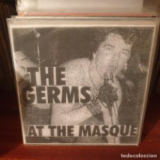 Discos de vinilo: THE GERMS / AT THE MASQUE / NOT ON LABEL. Lote 235279335
