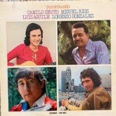 Discos de vinilo: CAMILO SESTO, MIGUEL RÍOS, LUIS AGUILE, LORENZO GONZALEZ. Lote 235279575