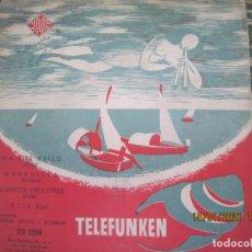 Discos de vinilo: POURCEL MENGO Y BOURDIN - MA LILI HELLO EP - ORIGINAL ESPAÑOL - TELEFUNKEN RECORDS - MONOAURAL. Lote 235298720