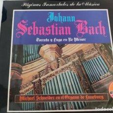 Discos de vinilo: VINILO JOHANN SEBASTIAN BACH. MICHAEL SCHNEIDER EN EL ÓRGANO DE LUNEBURG. SERIE ESPECIAL.. Lote 235306810