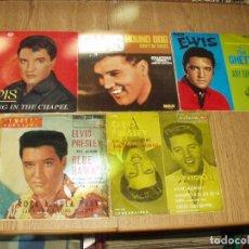 Discos de vinilo: LOTE 5 EPS Y SINGLES ELVIS PRESLEY. Lote 235309755