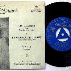 Discos de vinilo: CELIA GÁMEZ - LAS LEANDRAS (PICHI) +3 - EP COLUMBIA 1960 BPY. Lote 235333085