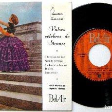 Discos de vinilo: FRANZ WEBER Y SU ORQUESTA VIENESA - VALSES CÉLEBRES DE STRAUSS - EP IBEROFON / BEL-AIR 1961 BPY. Lote 235334850