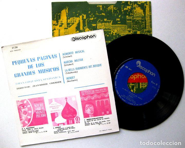 Discos de vinilo: Gran Orquesta Sinfónica - Pequeñas Páginas De Los Grandes Músicos - EP Discophon 1963 BPY - Foto 2 - 235338060