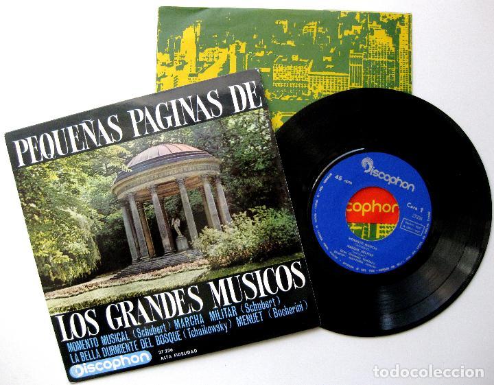 GRAN ORQUESTA SINFÓNICA - PEQUEÑAS PÁGINAS DE LOS GRANDES MÚSICOS - EP DISCOPHON 1963 BPY (Música - Discos de Vinilo - EPs - Orquestas)