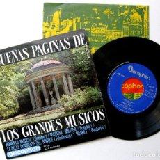 Discos de vinilo: GRAN ORQUESTA SINFÓNICA - PEQUEÑAS PÁGINAS DE LOS GRANDES MÚSICOS - EP DISCOPHON 1963 BPY. Lote 235338060