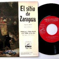 Discos de vinilo: BANDA DE LA POLICIA ARMADA Y DE TRÁFICO DE BARCELONA - EL SITIO DE ZARAGOZA - EP 1958 BPY. Lote 235339605
