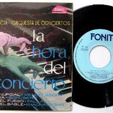 Discos de vinilo: ARMANDO SCIASCIA & ORQUESTA DE CONCIERTOS - LA HORA DEL CONCIERTO - EP 1961 IBEROFON / FONIT BPY. Lote 235343635