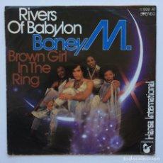 Discos de vinilo: BONEY M. – RIVERS OF BABYLON / BROWN GIRL IN THE RING GERMANY,1978. Lote 235346765