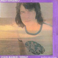 Disques de vinyle: LP MEDITERRANEO - J.M. SERRAT - ORIGINAL ANALÓGICO SPAIN 1971 -EDICIÓN 1ª. Lote 235348100