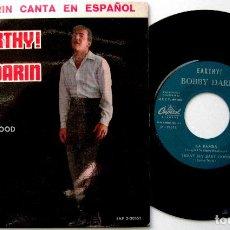 Discos de vinilo: BOBBY DARIN - CANTA EN ESPAÑOL - EARTHY! - EP CAPITOL 1963 BPY NUEVO IMPECABLE. Lote 235350445