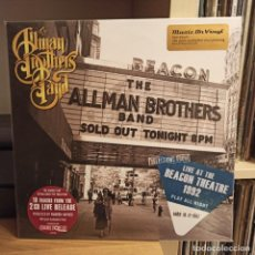 Discos de vinilo: THE ALLMAN BROTHERS BAND-PLAY ALL NIGHT:LIVE AT BEACON THEATRE 1992 2LP. Lote 235357155