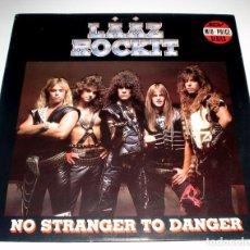 Discos de vinilo: LP LAAZ ROCKIT - NO STRANGER TO DANGER. Lote 235362925