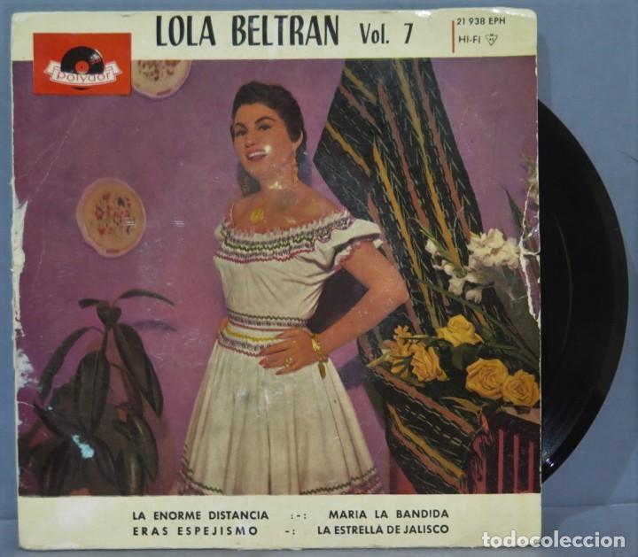 EP. LOLA BELTRAN. VOL. 7 (Música - Discos de Vinilo - EPs - Grupos y Solistas de latinoamérica)