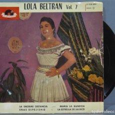 Discos de vinilo: EP. LOLA BELTRAN. VOL. 7. Lote 235363175
