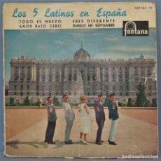 Discos de vinilo: EP. LOS 5 LATINOS EN ESPAÑA. TODO ES NUEVO. Lote 235363330