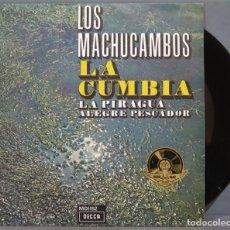 Discos de vinilo: SINGLE. LOS MACHUCAMBOS. LA CUMBIA. Lote 235363965