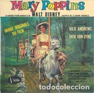 JULIE ANDREWS, DICK VAN DYKE - MARY POPPINS: BANDE ORIGINALE DU FILM - EP FRANCE 1965 (Música - Discos de Vinilo - EPs - Música Infantil)