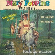Discos de vinilo: JULIE ANDREWS, DICK VAN DYKE - MARY POPPINS: BANDE ORIGINALE DU FILM - EP FRANCE 1965. Lote 235372465