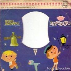 Discos de vinilo: DISCO ANIMADO BAMBINO - HABÍA UN CAÑONCITO BUENO, QUE SE LLAMABA PUM - SINGLE 8' SPAIN 1961 A HABÍA. Lote 235373635