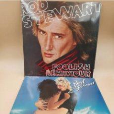 Discos de vinilo: ROD STEWART. FOOLISH BEHAVIOUR. BLONDES HAVE MORE FUN. Lote 235382565