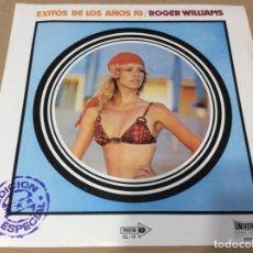 Discos de vinilo: EXITOS DE LOS AÑOS 70 -ROGER WILLIAMS ,SU PIANO Y ORQUESTA. CÍRCULO DE LECTORES.. Lote 235385795
