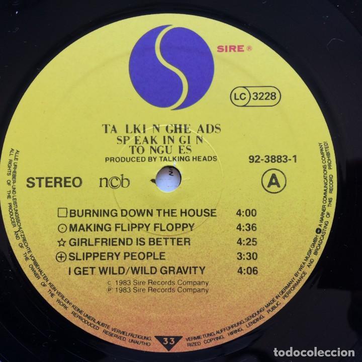Discos de vinilo: Talking Heads – Speaking In Tongues Scandinavia,1983 Sire - Foto 4 - 235386880