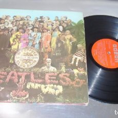 Discos de vinilo: THE BEATLES -SGT PEPPERS LONELY HEARTS CLUB BAND -LABEL NARANJA --MOFL 9.000 --1ª EDIC 1967 --VG+. Lote 235386890