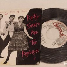 Discos de vinilo: SINGLE THE ROCKY SHARPE AND THE REPLAYS - RAMA LAMA DING DONG - CHISWICK 1978. Lote 235387545