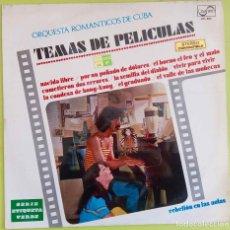 Discos de vinilo: FRANK ZAPPA EN PORTADA (ON COVER ).ORQUESTA ROMANTICOS CUBA:TEMAS DEPELICULAS. LP SOLO ESPAÑA. Lote 235399800