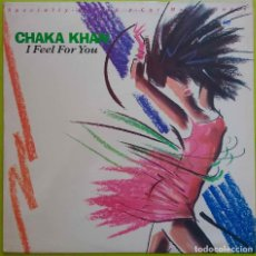 Discos de vinilo: CHAKA KHAN. I FEEL FOR YOU.MAXISINGLE ESPAÑA 2 TEMAS VERSIONES EXTENDIDAS. Lote 235400770