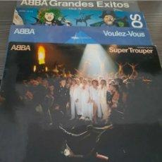 Discos de vinilo: ABBA. LOTE 4 VINILOS. SOUPER TROUPER, VOULEZ VOUS Y DOS GRANDES EXITOS. Lote 235415260