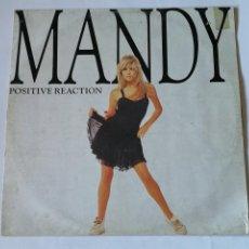Discos de vinilo: MANDY - POSITIVE REACTION - 1987. Lote 235426935