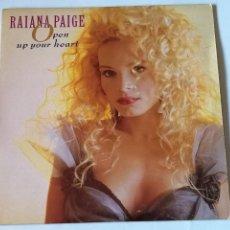 Discos de vinilo: RAIANA PAIGE - OPEN UP YOUR HEART - 1988. Lote 235432580