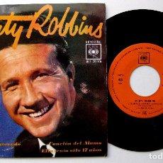 Discos de vinilo: MARTY ROBBINS - EL ARBOL DEL AHORCADO +3 - EP CBS 1963 BPY. Lote 235452795