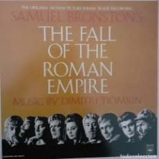 Discos de vinilo: LA CAIDA DEL IMPERIO ROMANO. THE FALL OF THE ROMAN EMPIRE. DIMITRI TIOMKIN. Lote 235457780