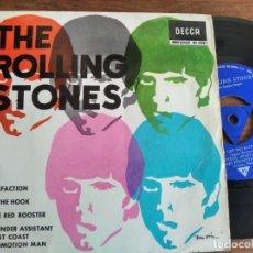 Discos de vinilo: THE ROLLING STONES - SATISFACTION + 3 ********** EP ESPAÑOL 1965 CON TRI-CENTER!. Lote 235478910