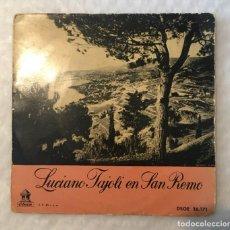 Discos de vinilo: EP LUCIANO TAJOLI EN SAN REMO - ODEON DSOE16171. Lote 235488430
