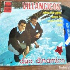 Discos de vinilo: DÚO DINÁMICO - VILLANCICOS ********** RARO EP 1965 GRAN ESTAO PEGATINAS PROMO!. Lote 235492880