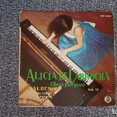 Discos de vinilo: ALICIA DE LARROCHA - OBRAS PARA PIANO-EL POLO-LAVAPIES. AÑO 1.961. AEDITADO POR HISPAVOX. Lote 235503650